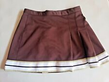 Varsity Brown and Gold Cheerleader Uniform Skirt, Womens Large