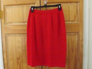 ST.JOHN Santana Knit Skirt in Red----size 4
