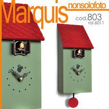 """orologio a cucù art.803 """"portofino""""verde reseda 6011 Pirondini Italia Marquis"""