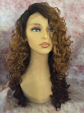 "100% Human Hair Blend 18"" Curly Lace Front Wig"