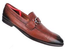 Donald J Pliner Horse Bit Buckle Loafer Brown Leather Dress Shoe Mens 14 M