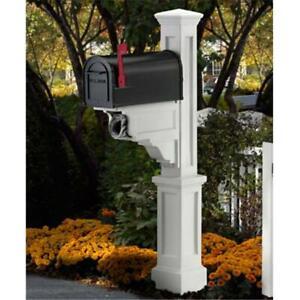MAYNE 5810W 6-1/2  Width White Polyethylene Dover Mailbox Post