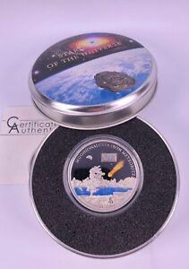 5 Dollars 2011 Cook Islands 925 Silber Meteorite Stardust of the Universe Proof