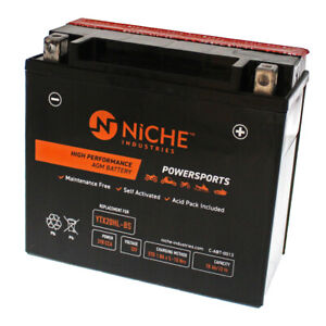 NICHE AGM Battery for Sea-Doo Kawasaki Polaris Yamaha YTX20HL-BS