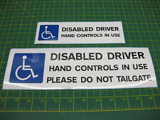 2 Disabled Driver Car Stickers Hand Controls in use