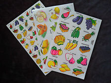 Wholesale 3 Sheets Kitchen Decals Fruit & vegetable Stickers Container Labels