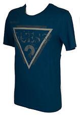 T-shirt maglietta girocollo uomo GUESS a. M54I00 taglia L col. G743 PETROL BLUE
