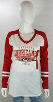 Carolina Hurrica NHL Womens Shirt Long Sleeve Pullover Hockey V-Neck NWT