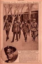 1920 ROTOGRAVURE VON MACKENSEN SALONIKI HUSSARS HAT SKULL