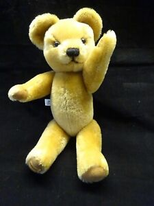 """Merrythought England Label Cute Light Gold Jointed Teddy Bear 19"""""""
