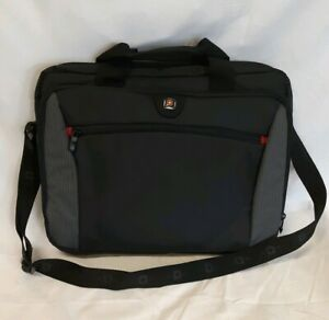 SWISSGEAR Swiss Army WENGER Travel BRIEFCASE SOFT CASE LAPTOP BAG BLACK SHOULDER