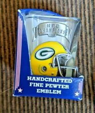 New listing New 1996 NFL ChampionsGREEN BAY PACKERS SQUARE SHOT GLASS w/PEWTER LOGO