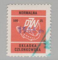 Poland Fishing license Fiscal Revenue Stamp 2-2-21-7f
