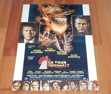 """ORIGINAL MOVIE POSTER """"THE TOWERING INFERNO"""" 1974 FRENCH FOLDED MED POSTER"""