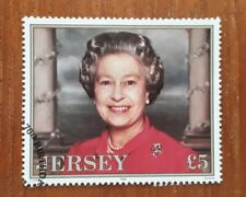 Jersey Stamps. 1996. 70th Birthday of Queen Elizabeth II. £5 fine-used Stamp.