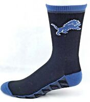 Detroit Lions Football Vortex Quarter Socks White Black Blue