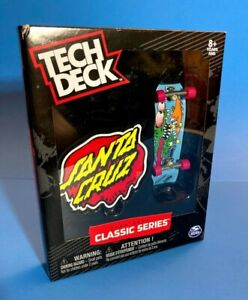 Tech Deck Classic Series Santa Cruz Slasher Fingerboard Blue Rare Skateboard