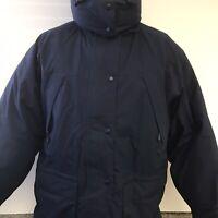 Eddie Bauer Ridgeline Hooded Gore Tex Goose Down Parka Jacket Navy Women's Large