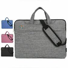 Notebooktasche für 15,6 Zoll Laptoptasche mit Zubehörfach Schultergurt Grau