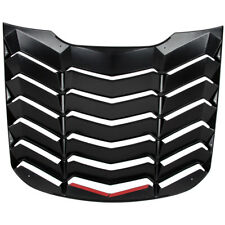ABS Rear Window Louvers Scoop Cover Sun Shade for Ford Mustang 2015-2020 Black
