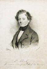 1843 Schuh Franz Arzt Mediziner Wien Lithographie-Porträt Kriehuber