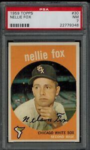 1959 Topps #30 Nellie Fox PSA 7 NM White Sox HOF 15xAllStar 1959 MVP