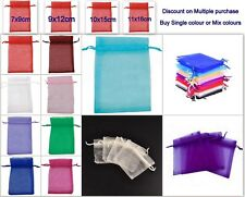 25 / 50 Organza Gift Bags Luxury Wedding Party Xmas Favour Jewellery Pouches UK