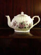 Arthur Wood & Son Staffordshire England Est 1884 Teapot 6432 Violets