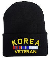 KOREA VETERAN FOLD LONG CUFF BEANIE HATS MILITARY LAW ENFORCEMENT