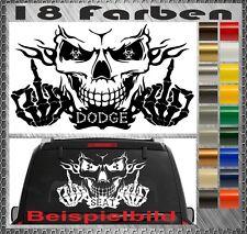 Skull DODGE Power Aufkleber Sticker Totenkopf Heckscheiben 58x34cm