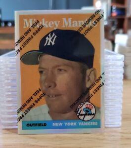 1996 Topps Mantle Eccellente Rifrattori #8 Mickey Mantle 1958 Topps