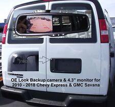 "Backup Camera & 4.3"" Mirror monitor for Chevy Express GMC Savana Van 2010 - 2018"