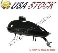 2L Fuel Gas Tank with Petcock Gas Tank Cap for 80cc 60cc 49cc Motorized Bicycle
