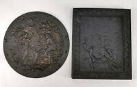 8638034 Par Relief-Platten Hierro Fundido Bíblico Motivo Pietà Y Paradies
