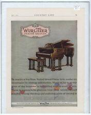 Rare Original VTG 1927 Wurlitzer Grand Piano Company Color Advertising Art Print