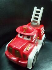 Tonka Hasbro Chuck Firetruck (2000) Battery Powered - Lights Up - Talks Moves
