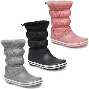 Crocs Femmes Crocband Bottes Hiver Neige Bouffant Imperméable Doublé Chaussure