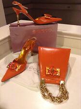 Sacco 1823 Italian-Shoe & Bag Set Women Size 10 M/41 Europe (Elegant Gold He