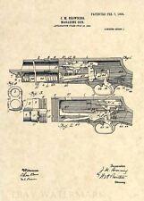 Original Stevens 520 Shotgun US Patent Art Print- Browning Antique Vintage 315
