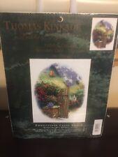 Thomas Kinkade Hidden Cottage Wooden Gate Vignette 51194 Cross Stitch PT-2.13