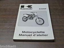 MANUEL REVUE TECHNIQUE D ATELIER KAWASAKI KX 250 F 250KXF 2004 ->