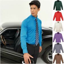 Patternless Regular Machine Washable Formal Shirts for Men
