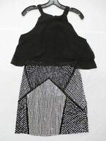 Parker Women's Cartagena Tiered Dress Black/Ivory Size Medium NWT $396