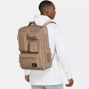 Nike Utility Elite Backpack Travel Tranining Shoe Carry Khaki (CK2656-790) NWT