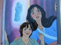 '80s CHRISTMAS ANIMATION PRODUCTION CEL /BACKGROUND Filmation SHERRY WHEELER