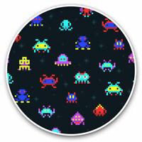 2 x Vinyl Stickers 7.5cm - Retro Space Game Arcade Gamer Cool Gift #15963