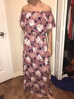 Altar'd State Pink Floral Maxi Dress Size Small
