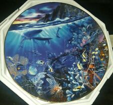 """The Hamilton Collection Enchanted Seascapes Sphere of Life Plate 8"""""""