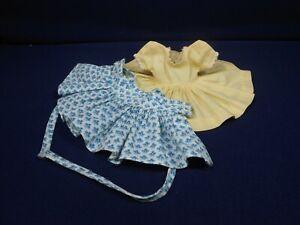 Vintage Madame Alexander Kins Pretty Yellow Dress w/Print Pinafore ca. 1954