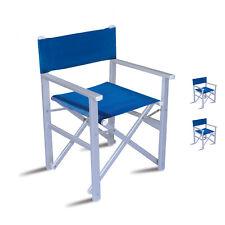 Sedia Da Regista Alluminio Robuste.Sedie Da Esterno Blu Senza Marca In Alluminio Ebay